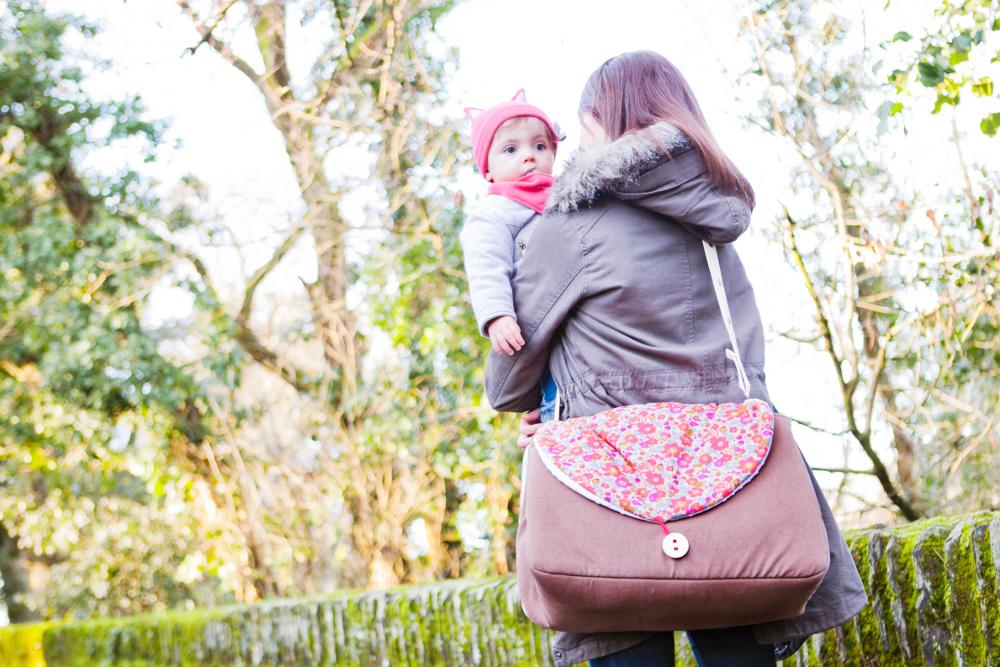 sac à langer unique porté