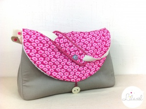 sac à langer lilaxel - sable et osami rose