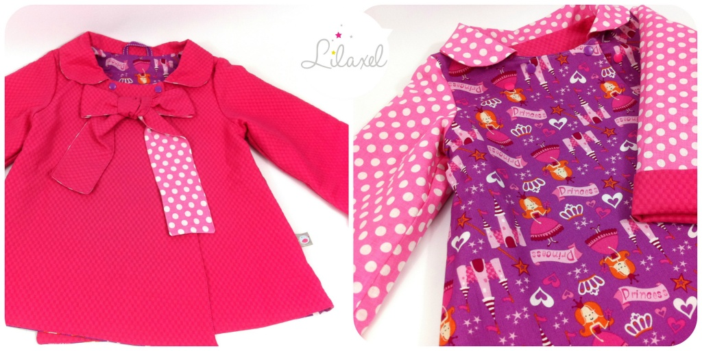 manteau rose et princesses by Lilaxel