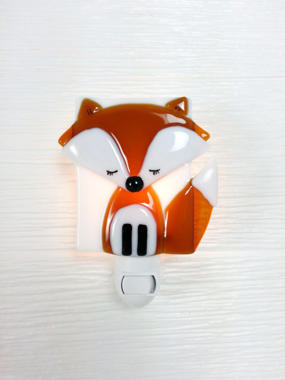 veilleuse renard orange