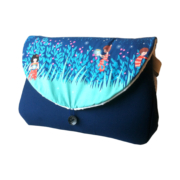 sac à langer bleu indigo et poétique - lilaxel