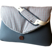 sac à langer gris et bulles - lilaxel