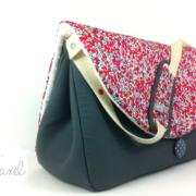 sac à langer gris et liberty wilthshire rouge by lilaxel