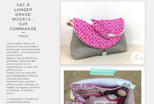 sac à langer lilaxel - boutique en ligne