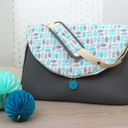 sac à langer lilaxel - base gris et chouettes - 2