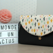 sac à langer noir et cactus - lilaxel - 01