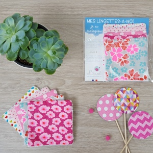 lingettes lavables rose lilaxel x tydressing