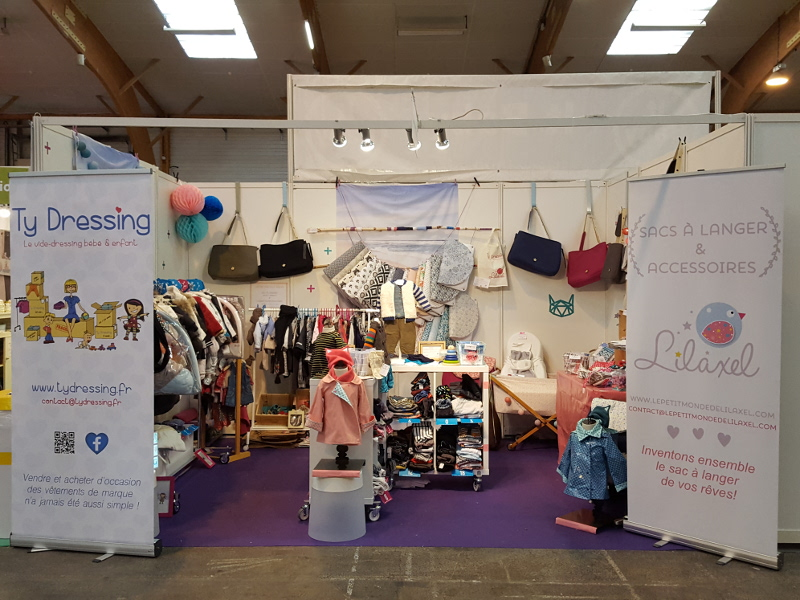 stand lilaxel et ty dressing salon baby rennes 2016 dimanche - www.lepetitmondedelilaxel.com