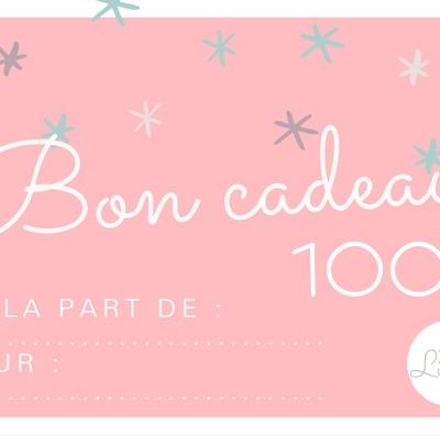 bon cadeau lilaxel 100 euros - www.lepetitmondedelilaxel.com