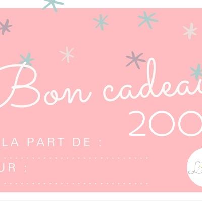 bon cadeau lilaxel 200 euros - www.lepetitmondedelilaxel.com