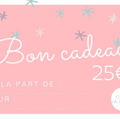 bon cadeau lilaxel 25 euros - www.lepetitmondedelilaxel.com