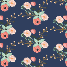 summer floral navy - modfox
