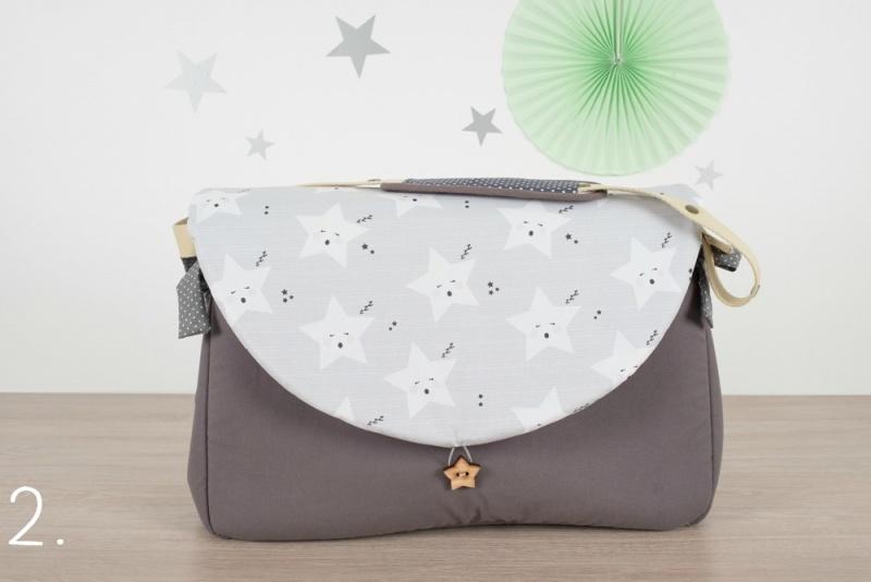 sac à langer - gris et étoiles - www.lepetitmondedelilaxel.com
