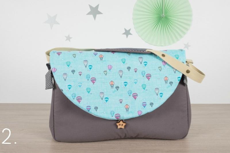 sac à langer - gris et montgolfières - www.lepetitmondedelilaxel.com