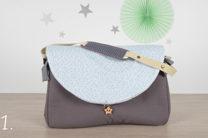 sac à langer - gris et triangles bleu gris - www.lepetitmondedelilaxel.com