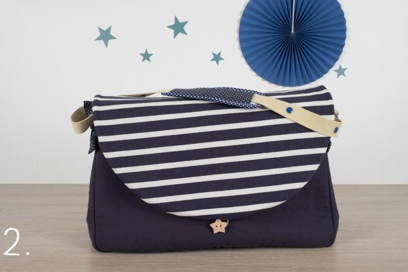 sac à langer - marine et rayures - www.lepetitmondedelilaxel.com