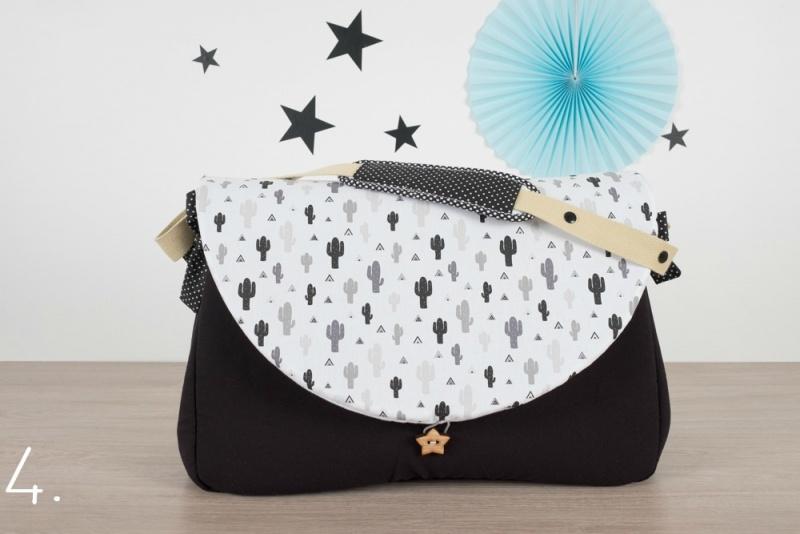 sac à langer - noir et cactus gris - www.lepetitmondedelilaxel.com