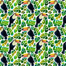 watercolour toucans - mirabelleprint