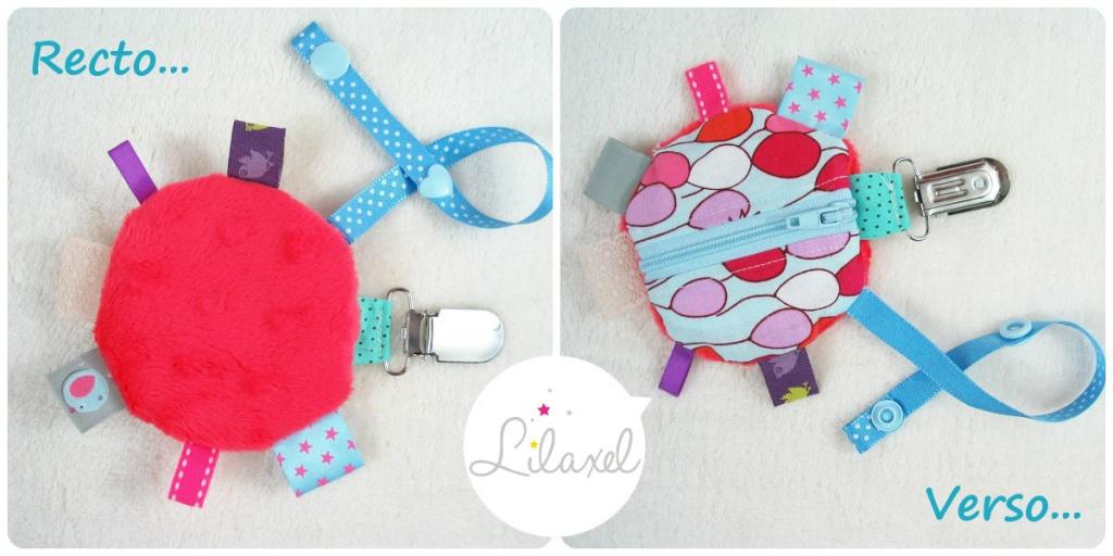 collage range-tétine rose et ballons - Lilaxel