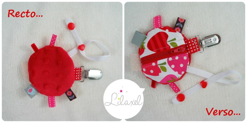 collage range-tétine rouge et fraises - Lilaxel