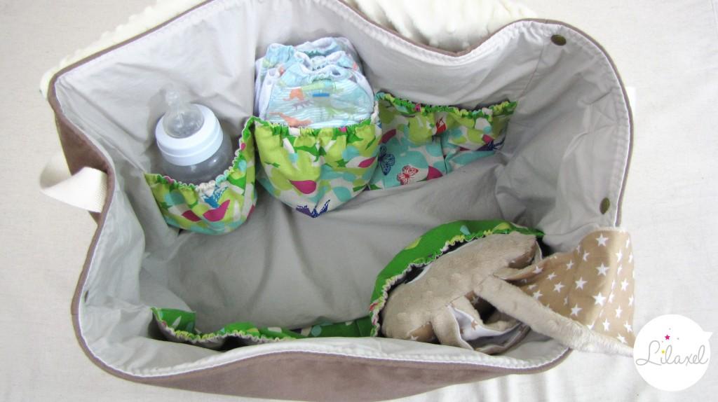 intérieur du sac à langer Lilaxel 1