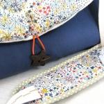 sac à langer bleu et adelajda multico - lilaxel