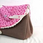 sac à langer sable et osami rose - lilaxel