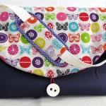 sac à langer violet et papillons - lilaxel