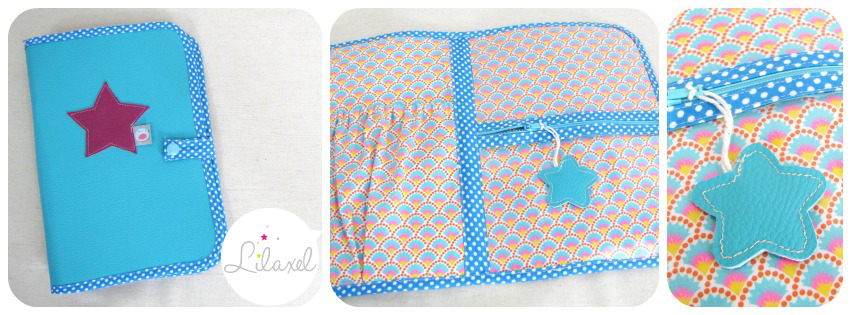 pochette homéo turquoise lilaxel