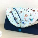 sac à langer - bleu et cirque