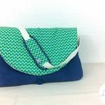 sac à langer lilaxel - bleu et petits triangles