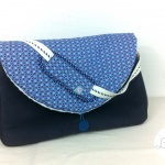 sac à langer lilaxel - gris et bulles bleues