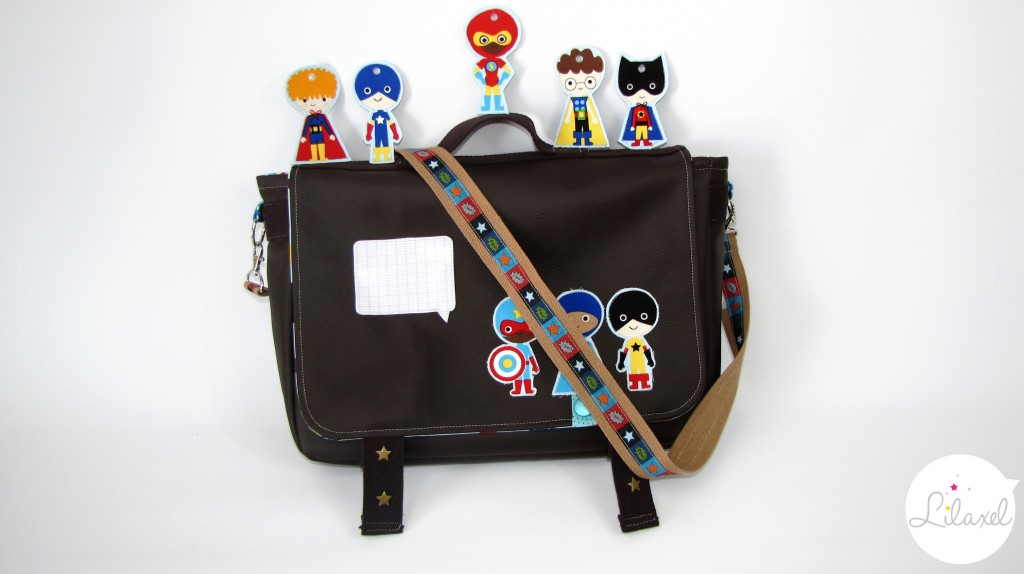 cartable super héros lilaxel 1
