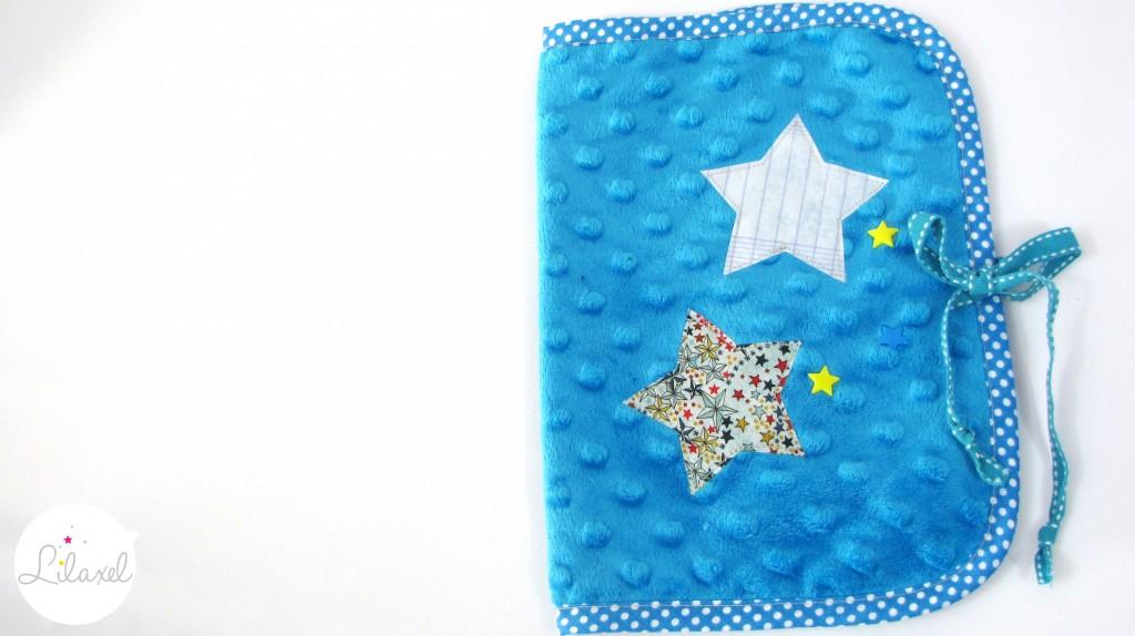 protège-carnet de santé minkee bleu roi et liberty adelajda