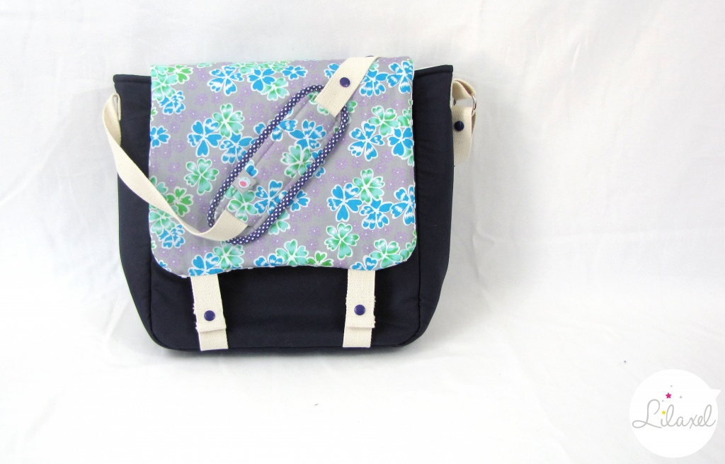 sac à langer violet et junko bleu petit pan lilaxel