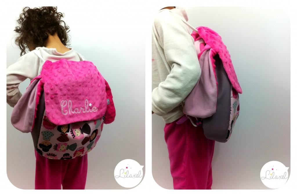 sac à dos princesses porté par lila
