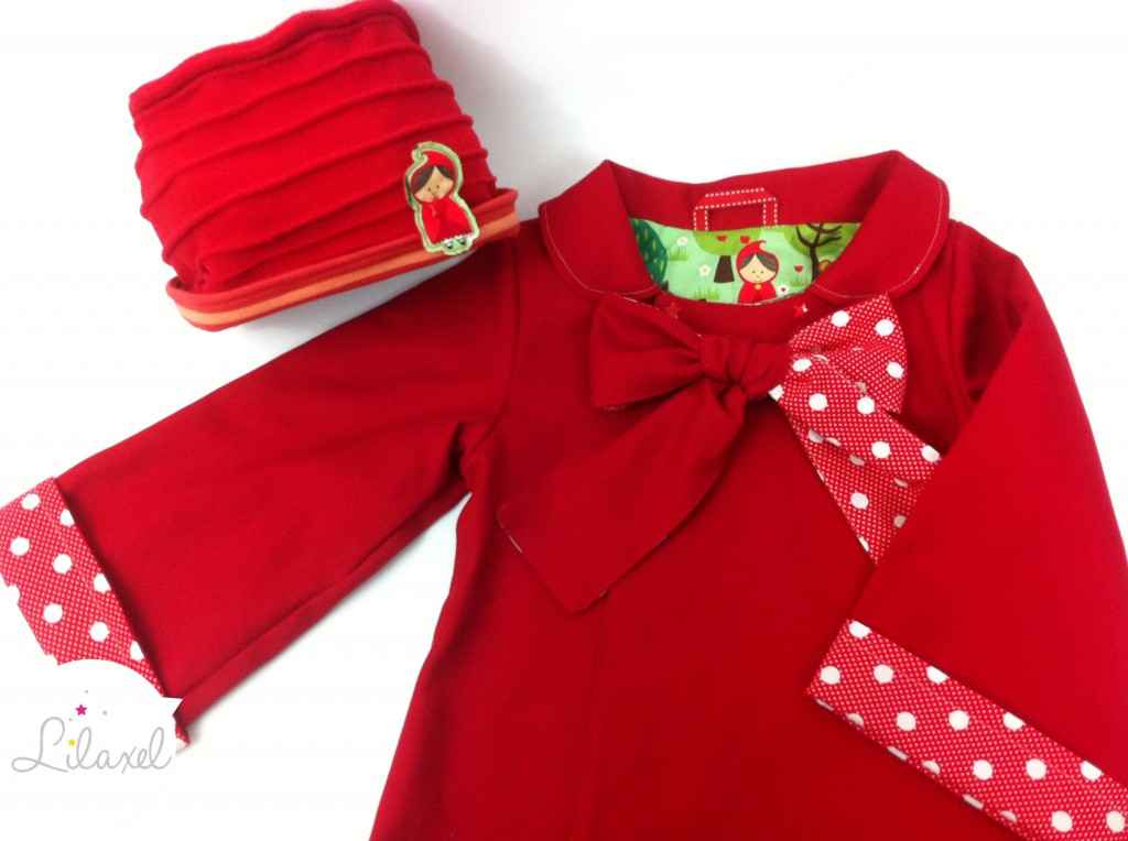 manteau chaperon rouge et bonnet à plis by Lilaxel