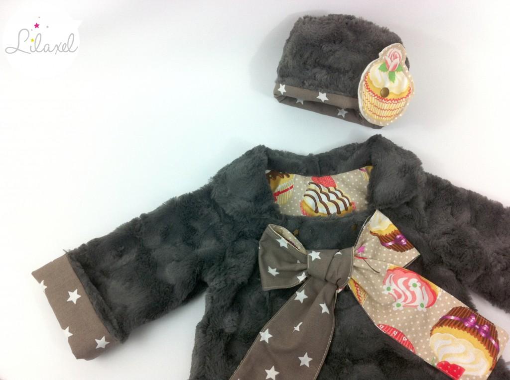 manteau doudou cupcakes et toque assortie by Lilaxel