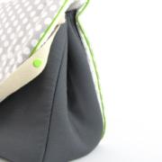 sac à langer gris et gros pois blancs - 3