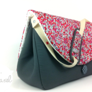 sac à langer gris et liberty wilthshire rouge by lilaxel