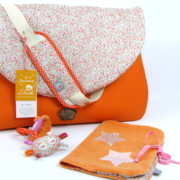 sac à langer orange et liberty eve