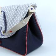sac à langer violet et gris