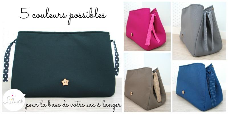 base du sac a langer personnalisable lilaxel - les couleurs