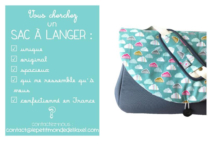 comment faire pour commander votre sac langer personnalisable lilaxel. Black Bedroom Furniture Sets. Home Design Ideas