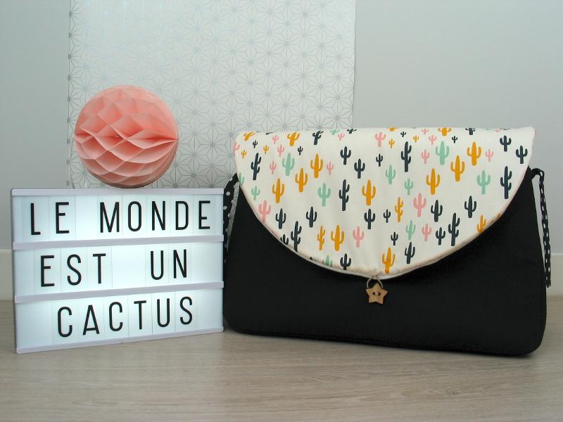 sac à langer noir et cactus - lilaxel - 02