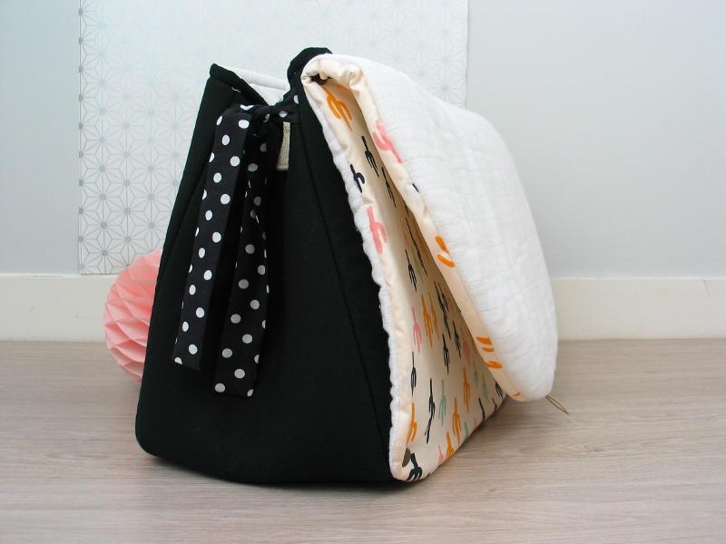 sac à langer noir et cactus - lilaxel - 05