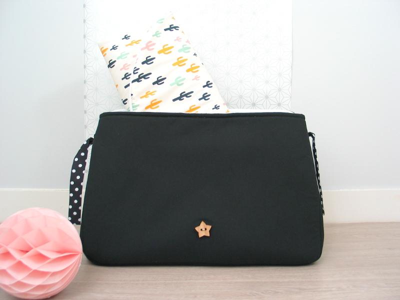 sac à langer noir et cactus - lilaxel - 06