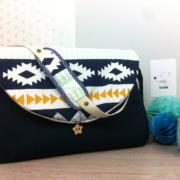 sac à langer lilaxel - bleu marine et ethnique graphique - 6