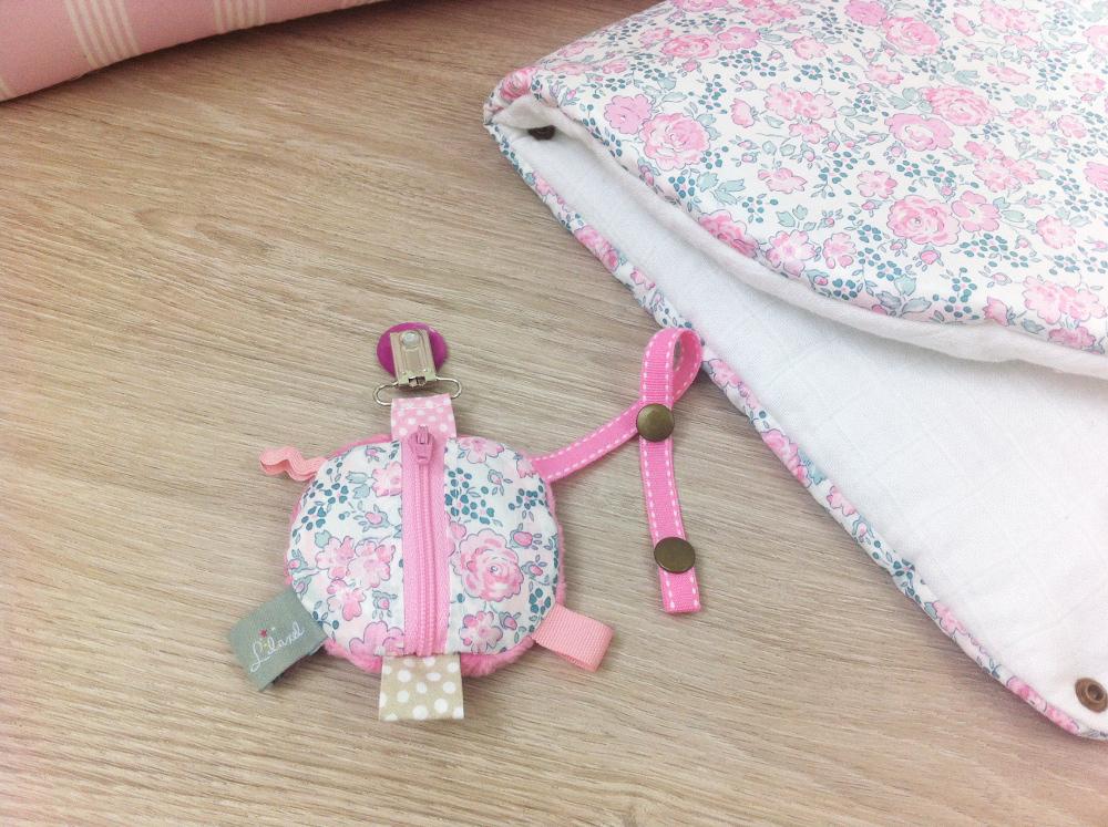 sac à langer lilaxel rose et liberty felicitee dragée - 10