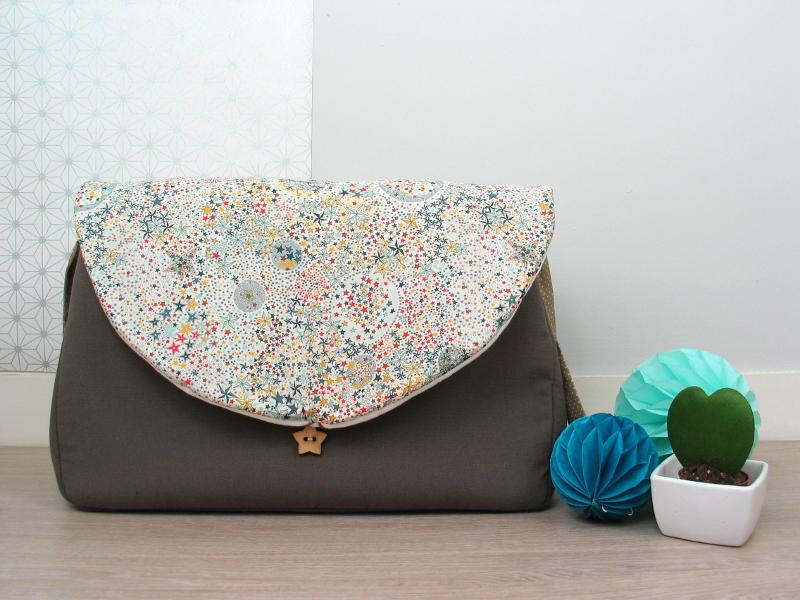 sac langer taupe et liberty adelajda vendu lilaxel. Black Bedroom Furniture Sets. Home Design Ideas
